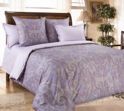 Постельное белье из сатина - премиум «Кашмир фиолетовый» (в подарочной упаковке)  ТМ ТексДизайн
