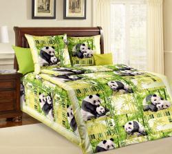 Постельное белье из бязи «Панды» (1.5 спальное)  ТМ ТексДизайн